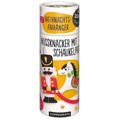 Nähset Weihnachtsanhänger - Nussknacker + Schaukelpferd