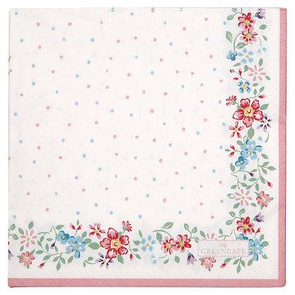 Papier Servietten Belle white
