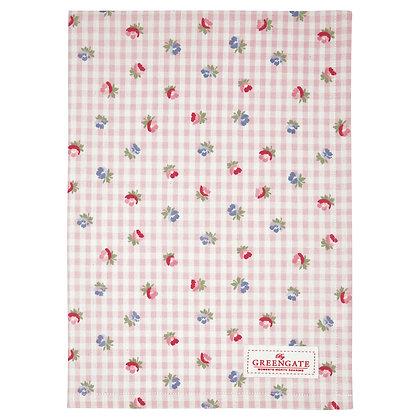 Geschirrtuch Viola check pale pink - Tea towel