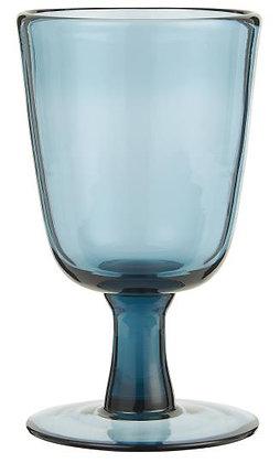 Weißweinglas blau