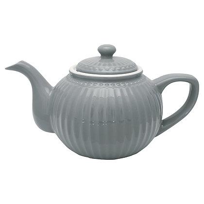Teapot Alice stone grey