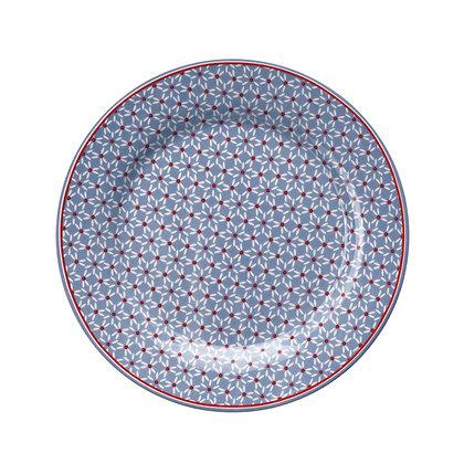 Plate Juno dusty blue