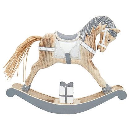 Dekorating Rocking Horse grey large