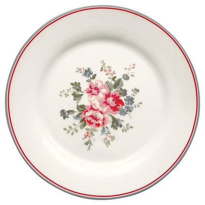 Plate Elouise white