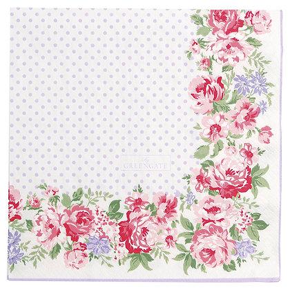 Papier Servietten Rose white