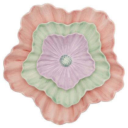 Tellerset Flower Pastel