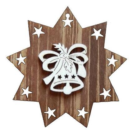Glocke auf Stern Beidseitig