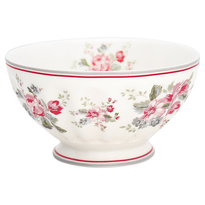 French Bowl xlarge Elouise white