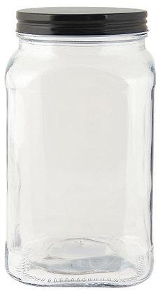 Vorratsglas mit schwarzem Deckel
