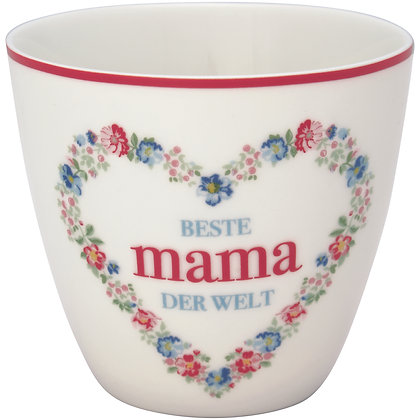 Latte Cup Mama white