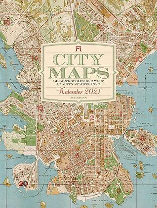 City Maps - Metropolen in alten Stadtplänen Kalender 2021