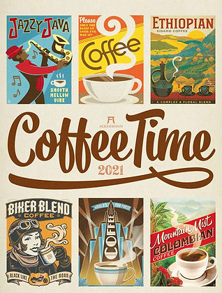 Coffee Time - Kaffee-Plakate Kalender 2021
