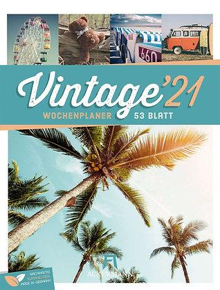 Vintage - Wochenplaner Kalender 2021