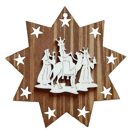 Drei Könige auf Stern Beidseitig