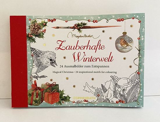Postkarten-Adventkalender zum Ausmalen