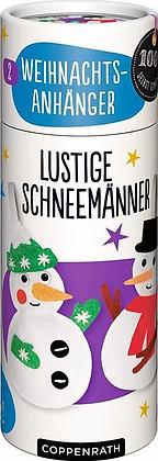 Nähset Weihnachtsanhänger - Lustige Schneemänner