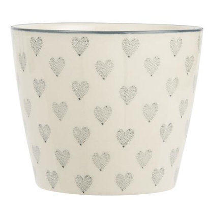 Becher gross Grey Hearts