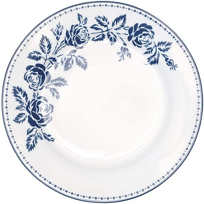 Plate Fleur blue