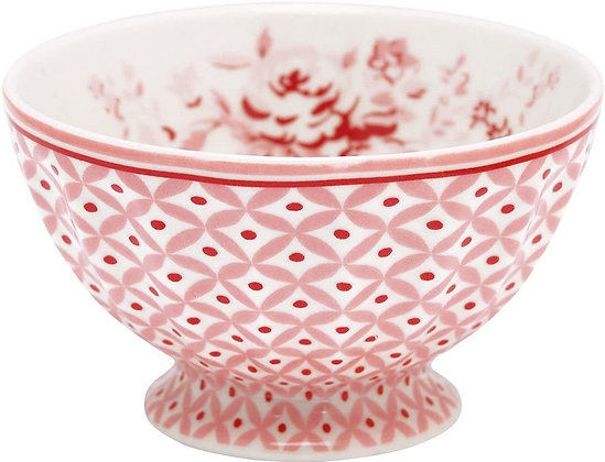French Bowl medium Abelone raspberry