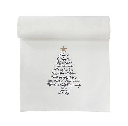 Tischläufer Christmas Words