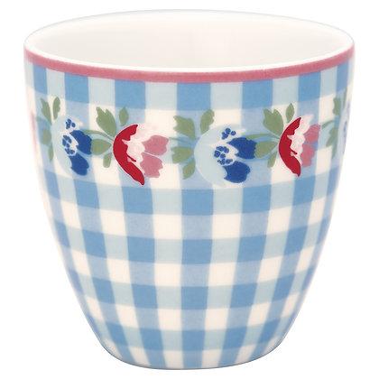 Mini Latte Cup Viola Check pale blue