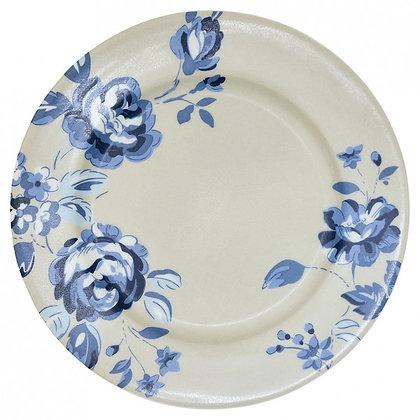 Plate Amanda dark blue