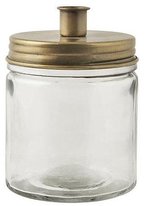 Kerzenhalter Glas gold