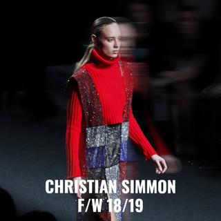 El joven diseñador Christian Simmon debutaba en la Samsung Ego de MBFWM con esta colección.