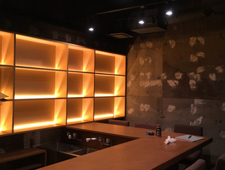 A small bar just completed in Yoga, Tokyo.