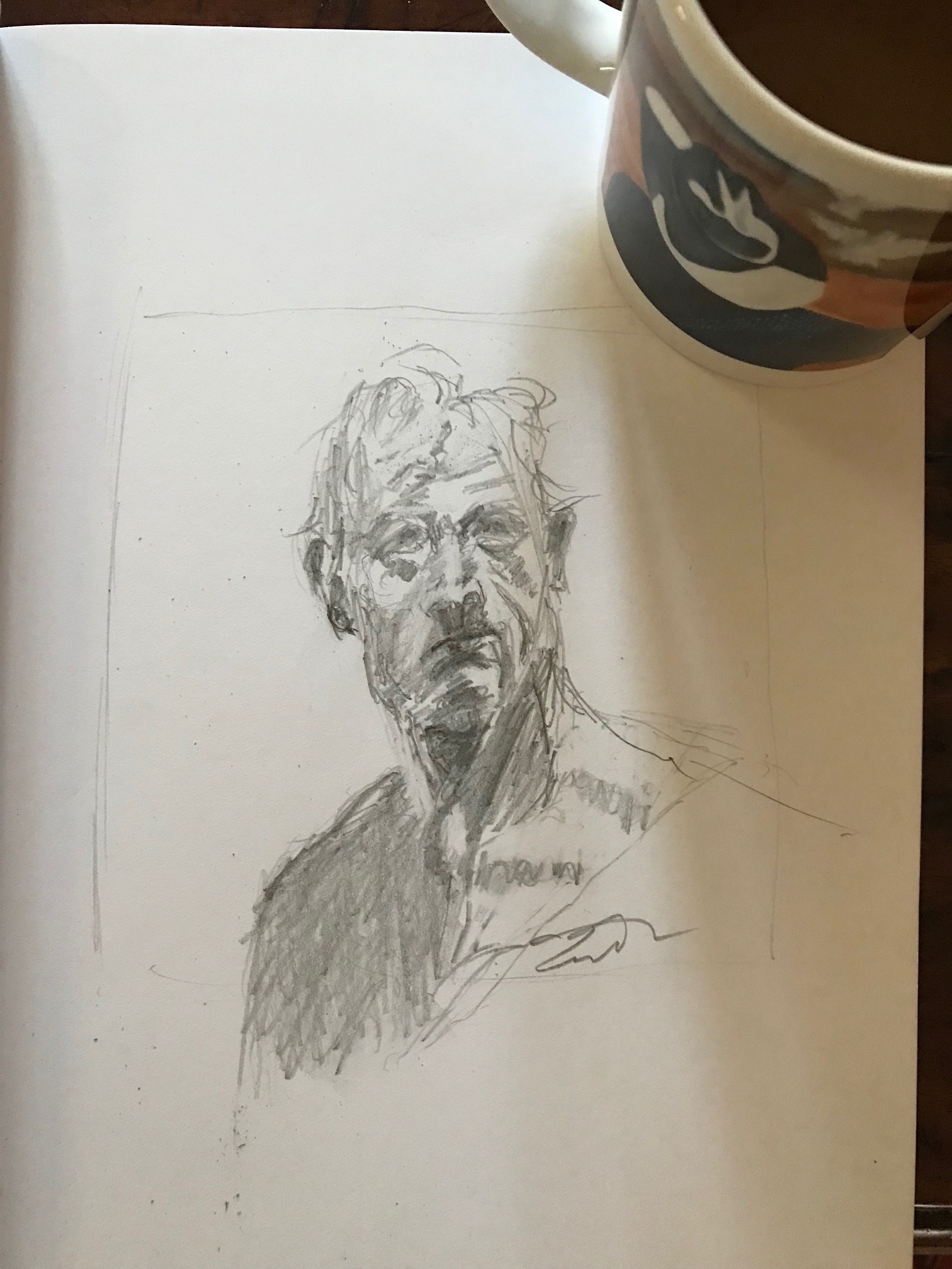 Coffee and A Sketch: Weekend Man