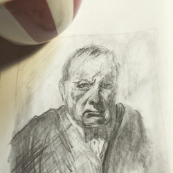 Coffee and A Sketch: Churchill