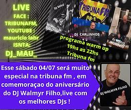 A Tribuna fm convida voce para uma live