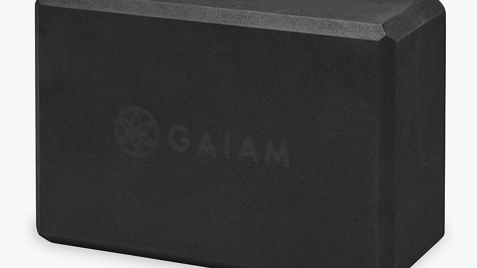 Gaiam Yoga Essentials Block Black