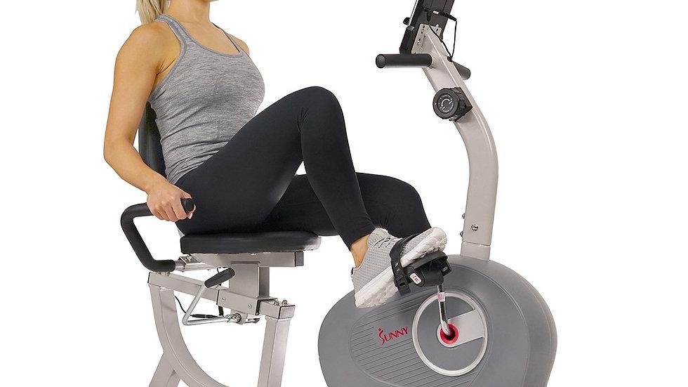 Sunny Health  Fitness Magnetic Recumbent Exercise Bike