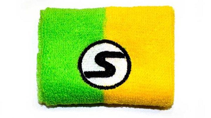 SexyBrand Retro Wristband in Green Yellow