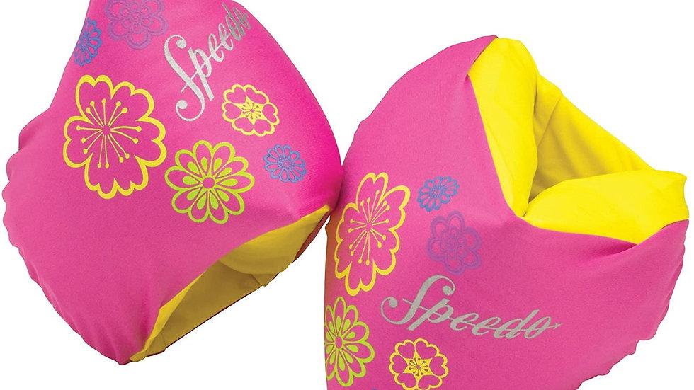 Speedo Kids' Begin to Swim Fabric Arm Bands Pink