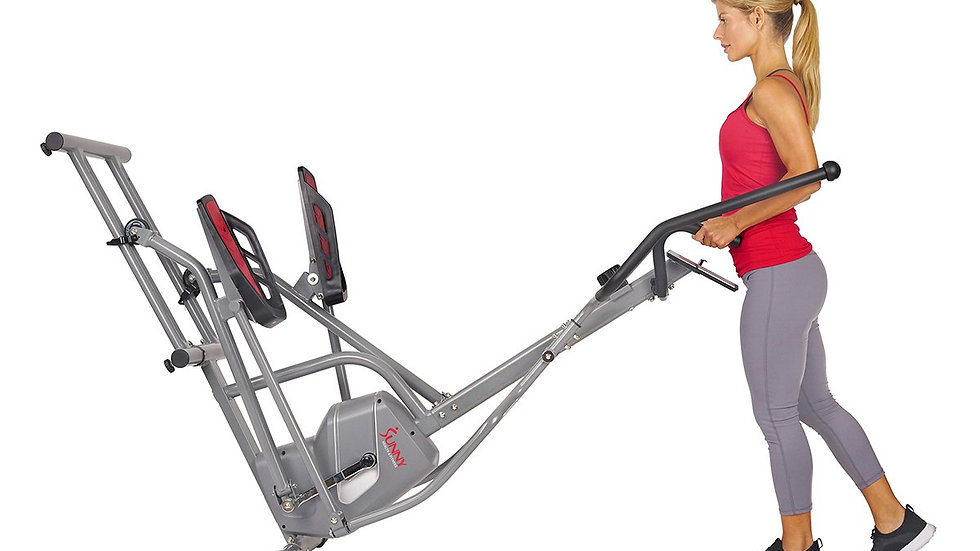 Sunny Health Magnetic Elliptical Trainer,Device Holder, Lcd Monitor