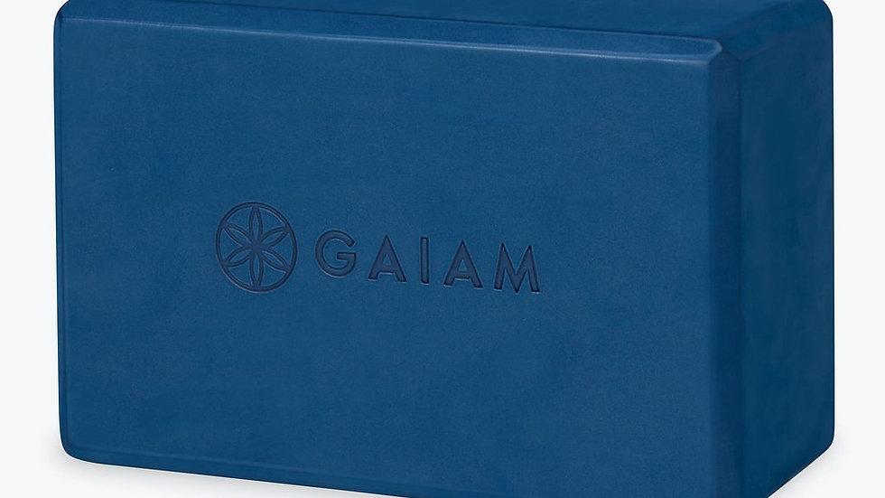 Gaiam Yoga Essentials Block Navy