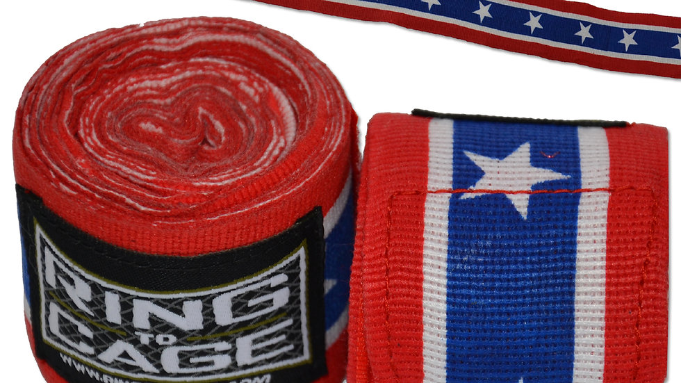 """Ring 2 Cage 180"""" Handwraps American"""