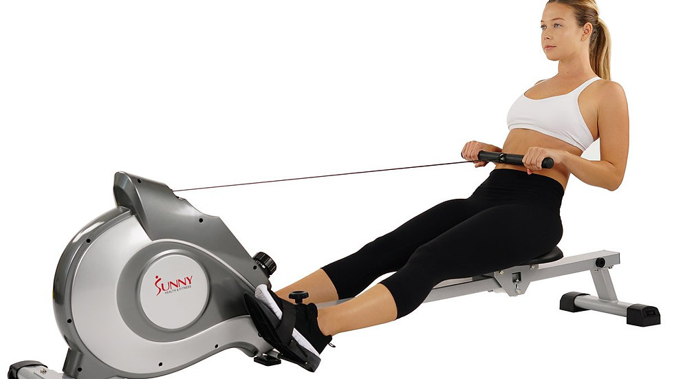 Sunny Health Magnetic Rowing Machine, LCD Monitor