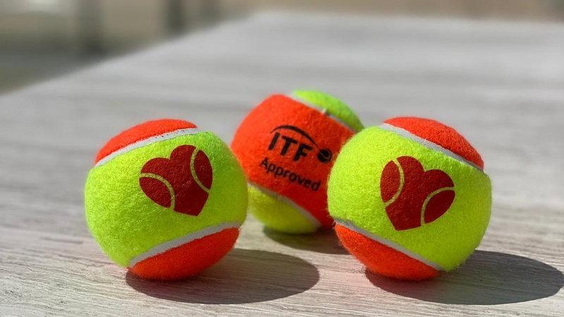 "SexyBrand ""I ❤️ BT"" Beach Tennis Ball - ITF APPROVED 1pc"
