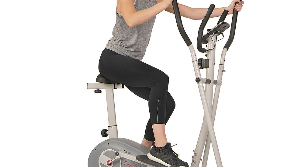 Sunny Health 2 in 1 Magnetic Elliptical UprightT Bike