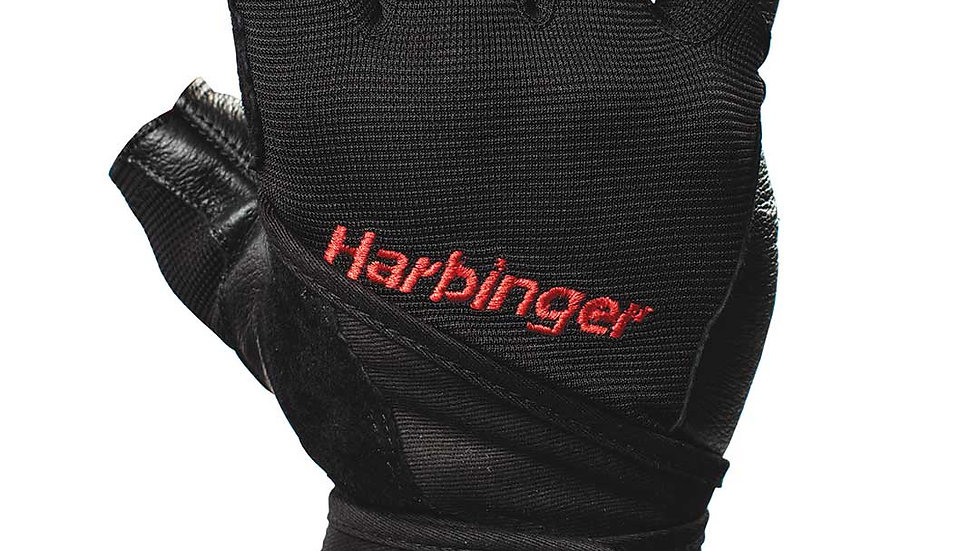 Harbinger Pro Wristwrap Gloves Black XXLarge