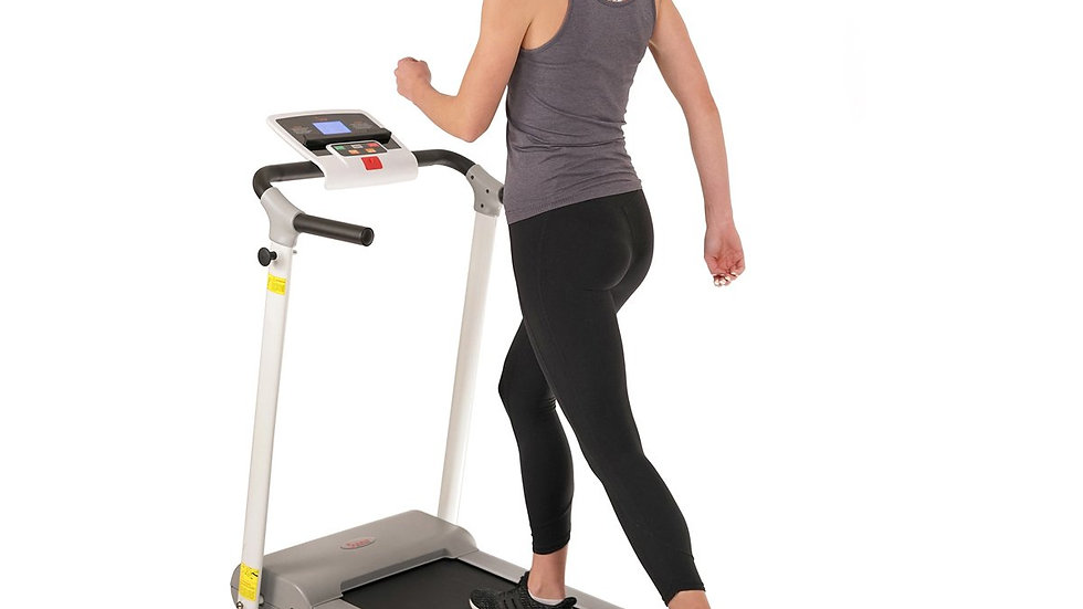 Sunny Health Easy Assembly Folding Treadmill + LCD Display