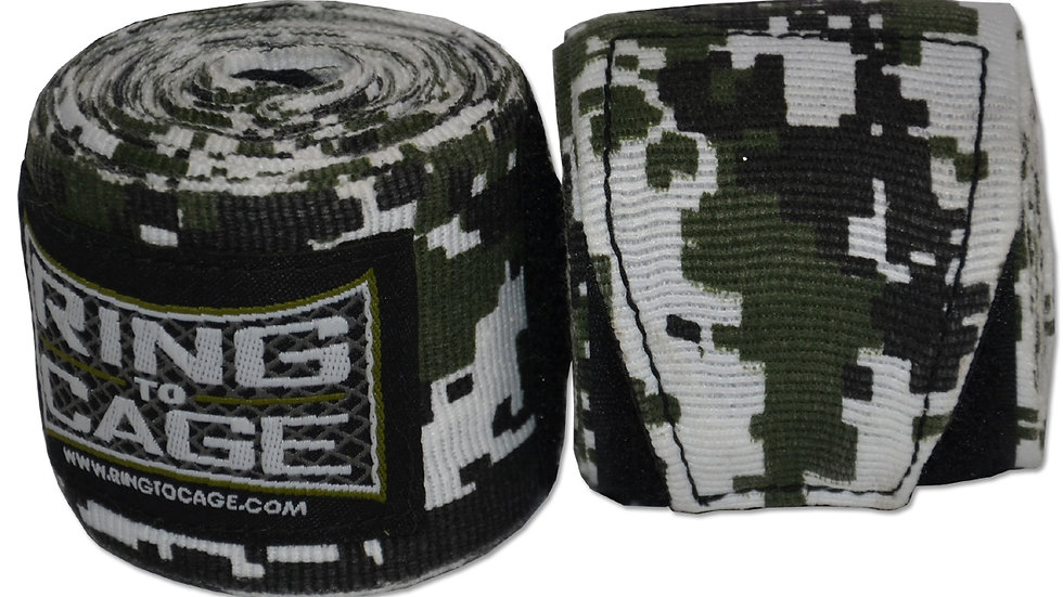 "Ring 2 Cage 180"" Handwraps Military Camo Digital"