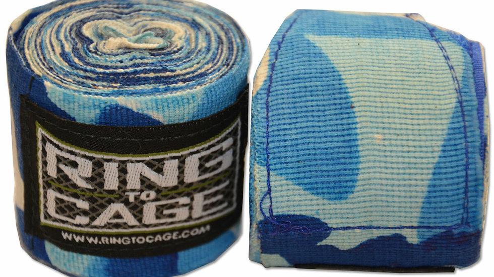 "Ring 2 Cage 180"" Handwraps Blue Camo"