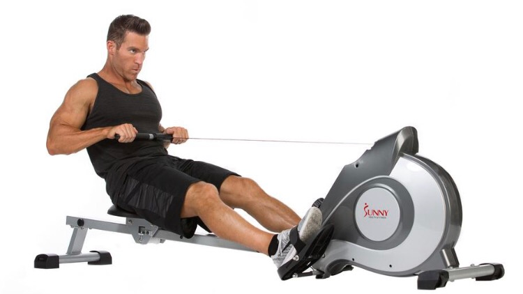 Sunny Health Magnetic Rowing Machine Rower W/ LCD Monitor