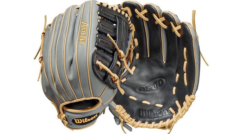 "Wilson A500 12.5"" Outfield Baseball Glove"