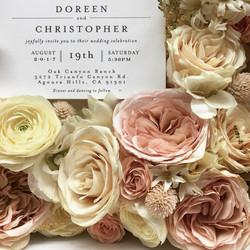 Preserved garden roses