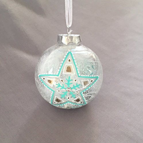 star snowflake Christmas bauble